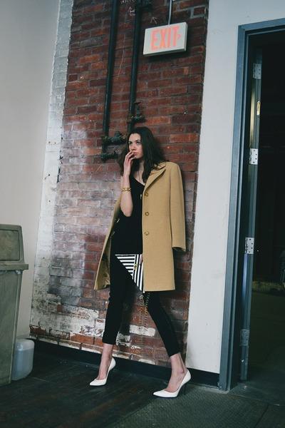 Anne Klein coat - rag & bone jeans - asos top - stuart weitzman pumps
