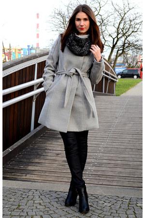 H&M coat - calvin klein scarf