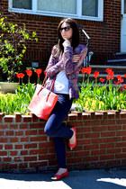 Zara jacket - Nine West bag - H&M pants