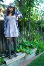 Forever-21-tights-forever-21-hat-h-m-dress-na-cardigan-na-shoes