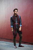Zara scarf - Forever 21 jeans - Zara jacket - Ralph Lauren shirt