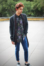 Zara-jeans-vintage-shirt-guess-scarf-abercrombie-and-fitch-cardigan