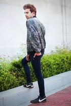 Zara jeans - vintage jacket - Zara shirt - nike sneakers