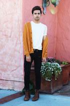 Zara jeans - Aldo boots - Zara shirt - Zara cardigan