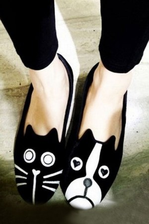 cotton OASAP flats
