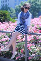 Prada bag - Prada sunglasses - Chanel flats - Zara blouse - BLANCO skirt