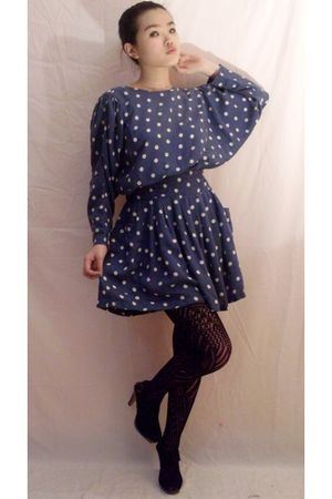 dress - black tights