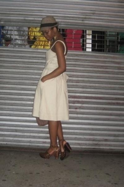 free people dress - Miu Miu shoes - BCBG Maxazria hat - Etro purse
