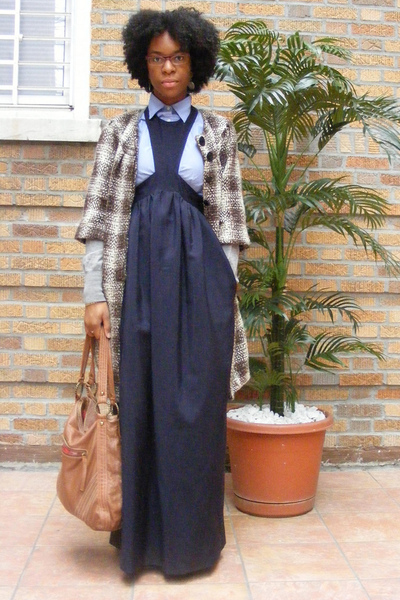 Walter coat - H&M sweater - J Crew shirt - acne dress - lucky purse