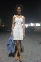 maison martin margiela jacket - DKNY dress - Jessica Bennett shoes