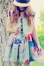 Chartreuse-tie-dye-sheinside-dress