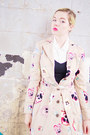 Beige-anthropologie-coat-white-vintage-heels