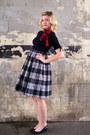 Black-vintage-dress-scarf-black-vintage-heels