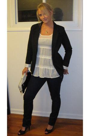 black Target blazer - Armani Exchange jeans - white Target shirt - black JC Penn