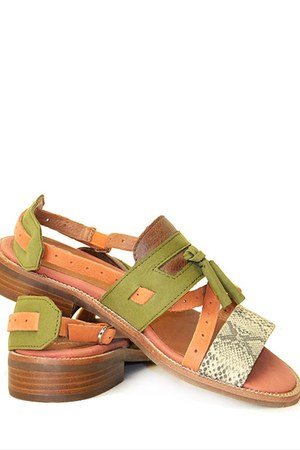 olive green wainscott Jeffrey Campbell sandals