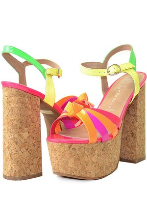 happy cork Jeffrey Campbell sandals