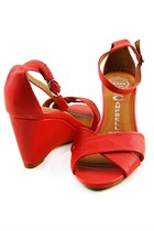 red trudeau Jeffrey Campbell sandals