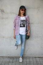 H&M t-shirt - Buffalo shoes - nike hat - Zara shirt - Opticas lin sunglasses