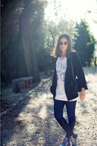 print JesuLaFrench shirt - glitter Topshop boots - skinny jeans H&M jeans