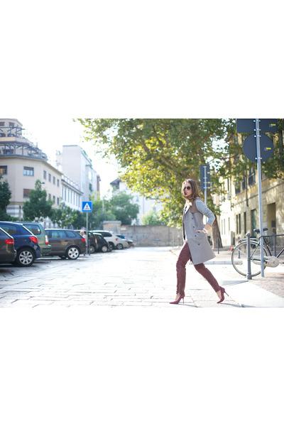 Stefanel coat - Giorgio Armani sunglasses - Hugo Boss pants - H&M sweatshirt