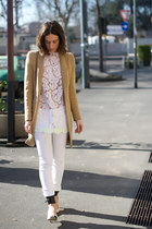 Zora e Neva shirt - Zara coat - Mango pants - Isabel Marant heels