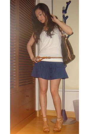 Topshop shirt - Topshop skirt - Topshop belt - Matthews shoes