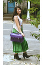 Chocolate-schu-bar-boots-purple-cambridge-satchel-company-bag