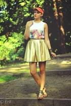gold Mosquito skirt - orange Auchan hat - black River Island sandals