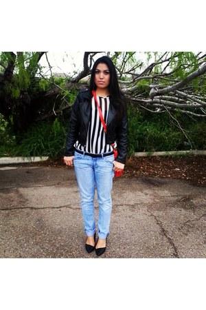 black Zara belt - Hurley jeans - black Charlotte Russe heels