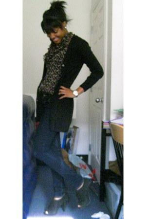 black boyfriend H&M cardigan - black Steve Madden shoes