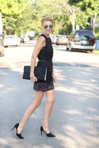 H&M top - H&M dress - ted baker bag - Zara heels