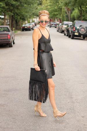 H&M bag - H&M skirt - Michael Kors heels - Topshop top