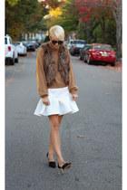 asos skirt - H&M sweater - Victorias Secret vest - Zara heels