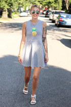Bow and Drape dress - H&M sunglasses - Zara sandals