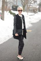 Zara sweater - French Connection coat - ted baker bag - Zara heels - Zara pants