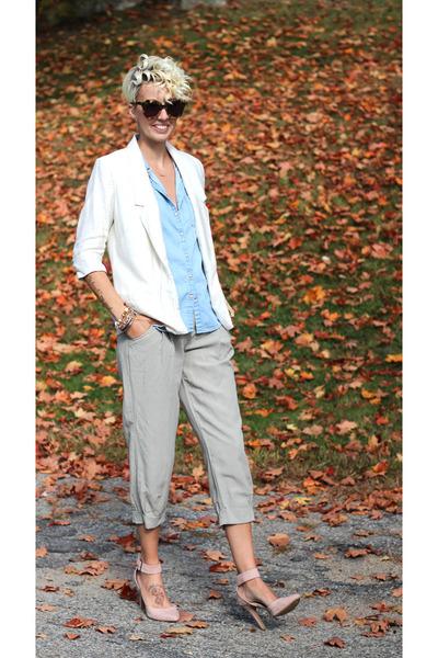 Lauren Conrad blazer - asos heels - H&M top