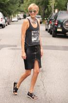 Urban Philosophy necklace - H&M sandals - Zara skirt