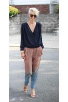 H&M top - H&M pants - Michael Kors heels