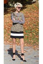 UniQUEEN vest - Zara heels - Zara skirt - Zara top