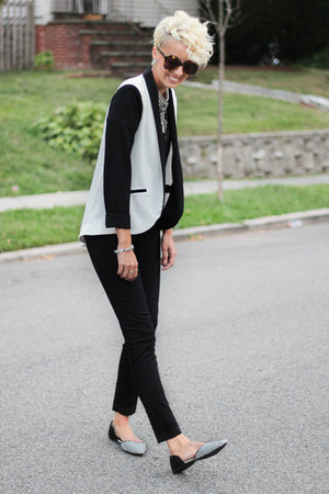 Urban Philosophy necklace - Forever 21 blazer - Marshalls top - H&M pants