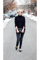 Zara sweater - asos shoes - Zara jeans - ted baker bag - H&M sunglasses