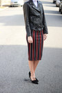 Victorias-secret-jacket-asos-top-h-m-skirt-zara-heels