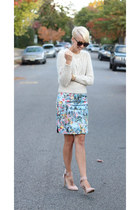 H&M skirt - Karen Walker sunglasses - asos heels - H&M top
