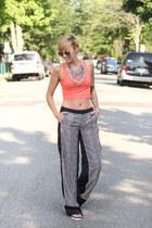 Apparelinbags top - Space Style Concepts pants - H&M sandals