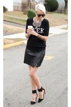 Zara skirt - Zara heels - Zara necklace