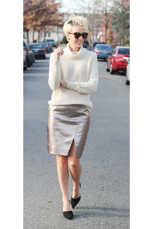 piperlime skirt - Zara sweater - Zara heels