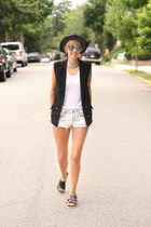 H&M hat - H&M shorts - H&M sandals - Zara top