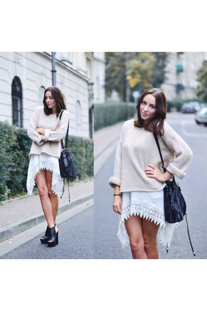 beige second hand sweater