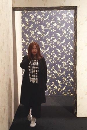 black culottes Zara pants - Bayo top
