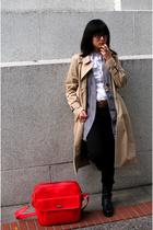 H&M coat - H&M sweater - Target blouse - Nine West shoes - courier purse